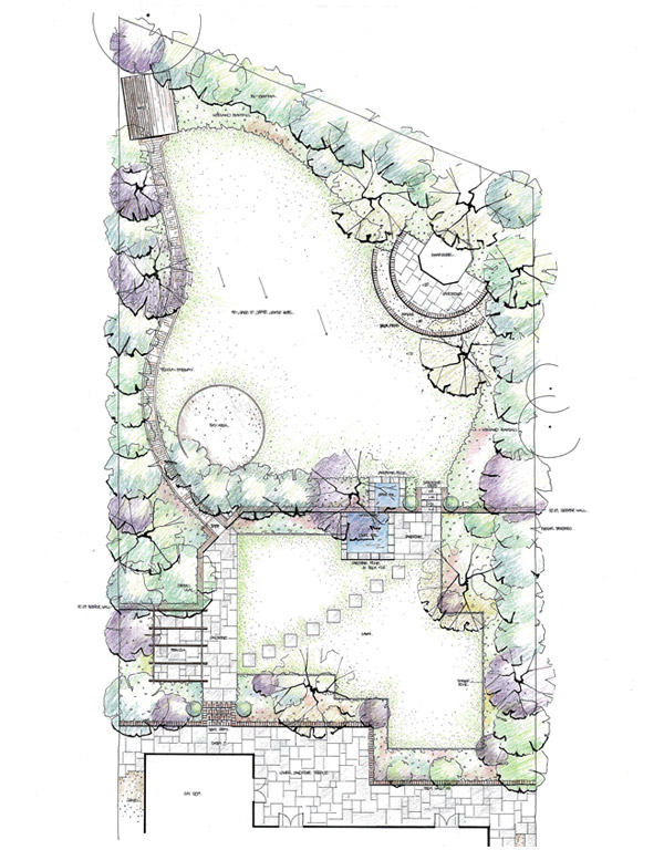 Medium sized garden sevenoaks millhouse landscapes for Medium garden design