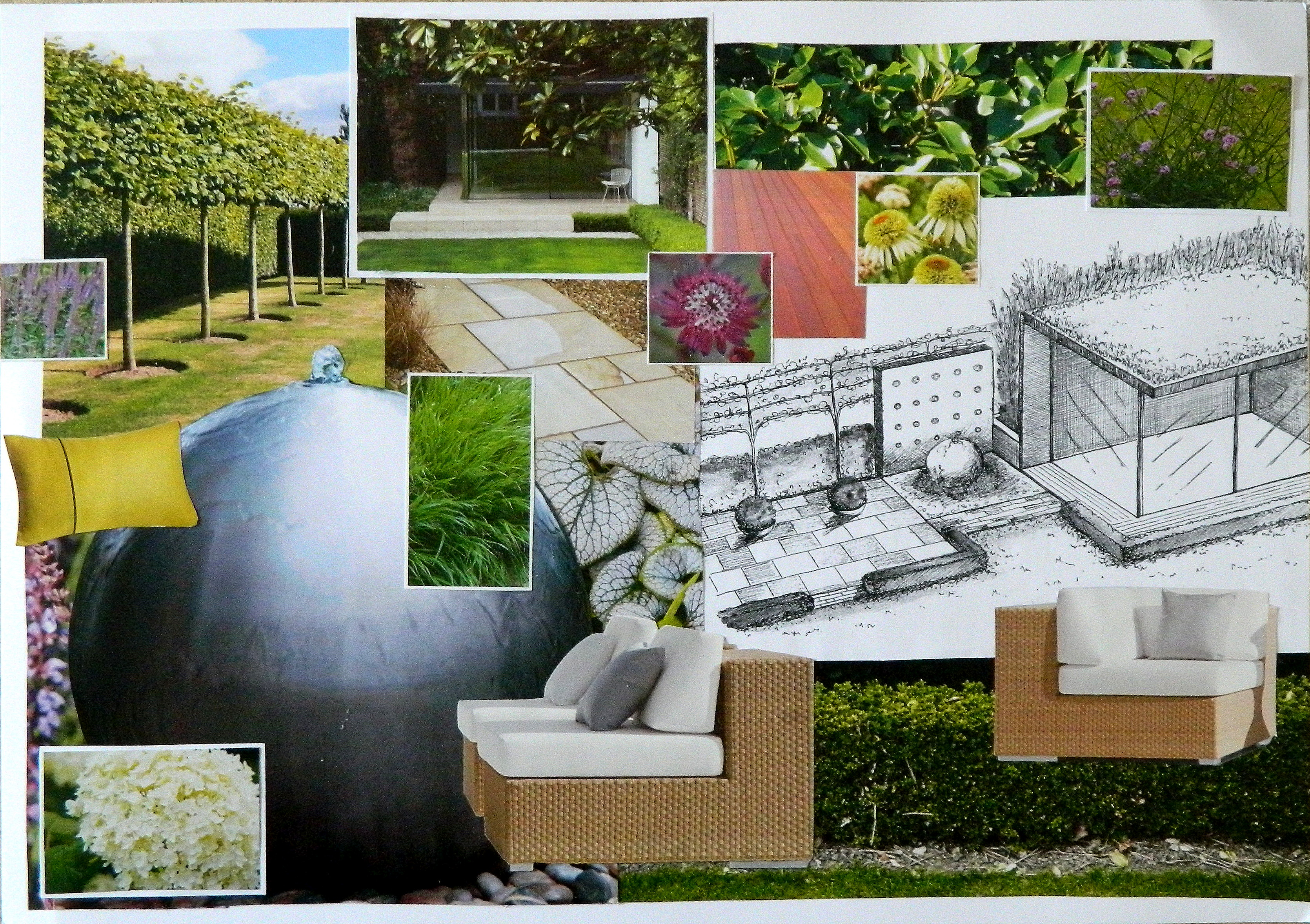 Contemporary Garden Design Mood Board We Will Talk You Through The