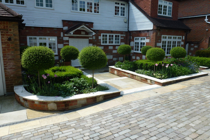Perfect Front Garden Design Image Of Landscape Intended Decorating