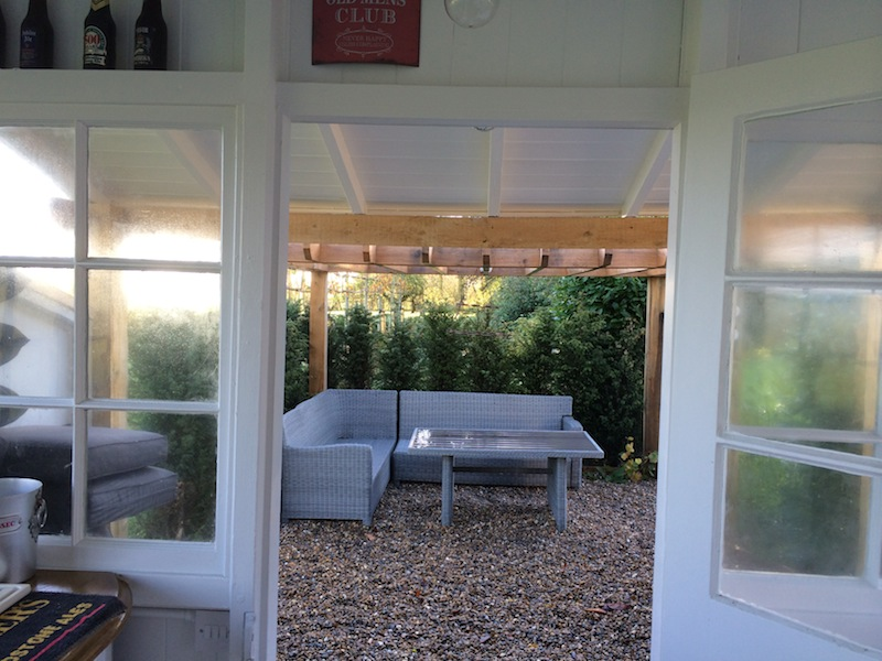 seating area for garden pub