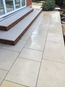 Sandstone Patio with steps