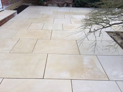 Read sandstone patio