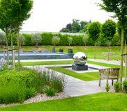 infinity pool in garden