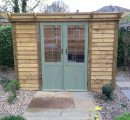 new garden shed with double doors